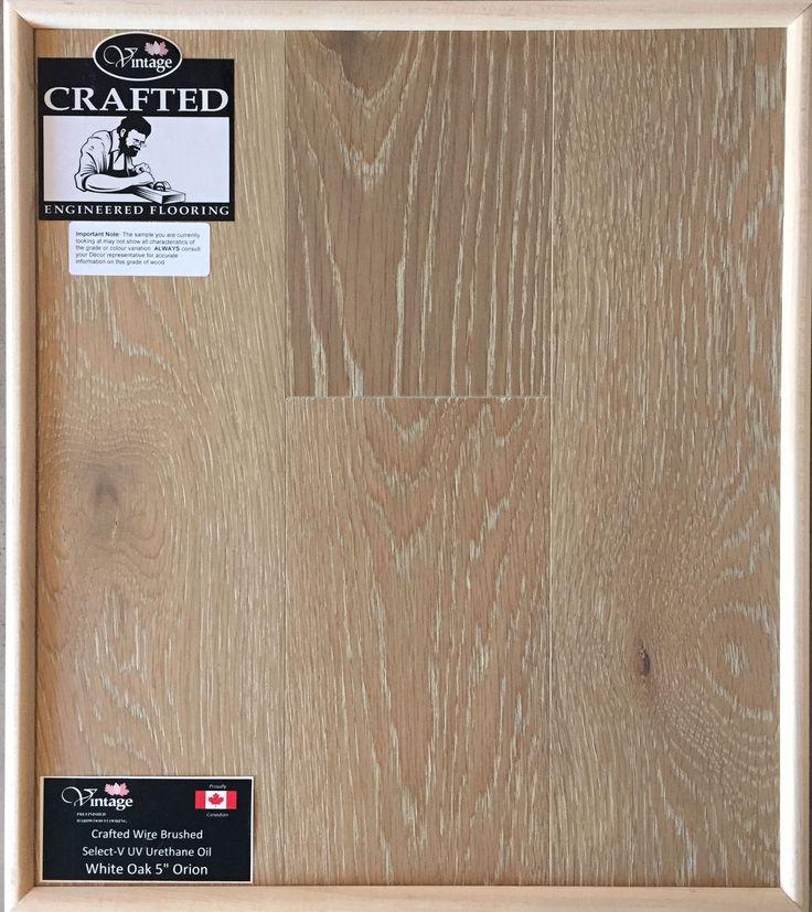 "Included Engineered Hardwood Flooring - White Oak 5"" Orion"