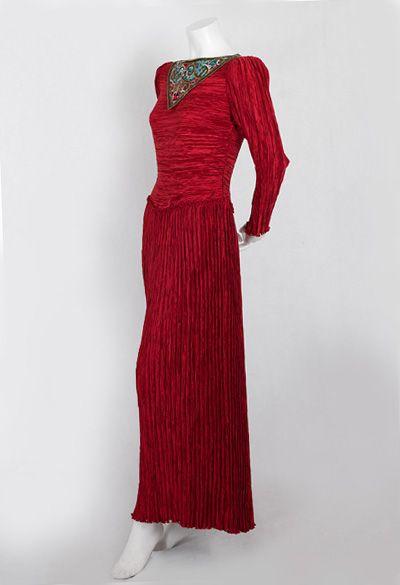 Designer Clothing at Vintage Textile: #1297 Mary McFadden pleated dress