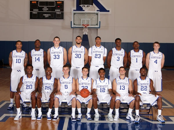 University of Kentucky Basketball 2011-12 Team Photo