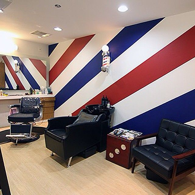 barber pole wallpaper (or paint)