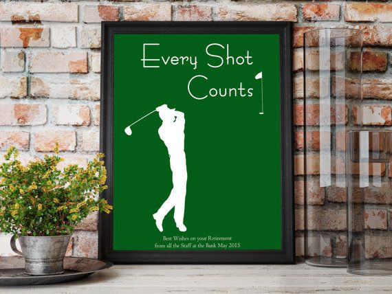 Golf Gifts For Men, Sport Print Husband Gift, Man Cave Decor Gifts For Him, Birthday Boyfriend Gift Idea, Retirement Gift for Man Brother