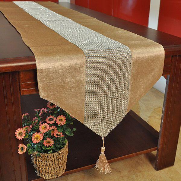 Ucuz Avrupa minimalist ev dekor kumaş masa örtüsü elmas tablo koşucu kalite masa…