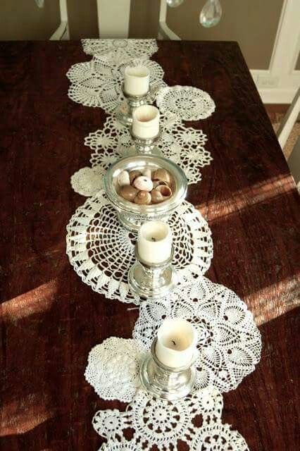 A use for old doilies