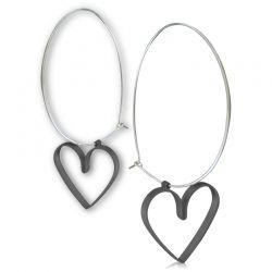 In Love/ earrings (oxidised)/ Jewelietta