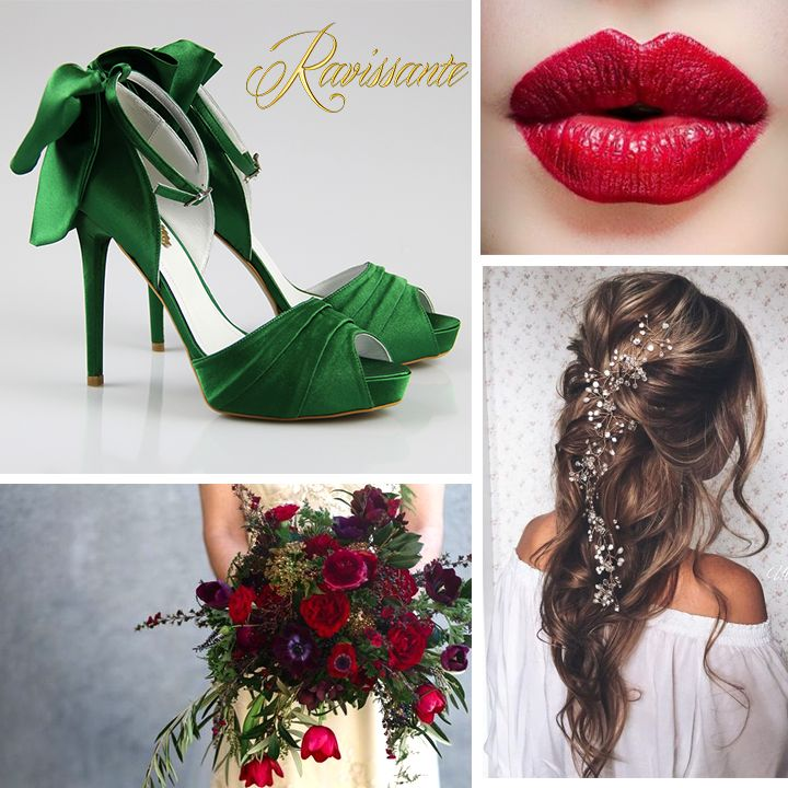 how about making royal green & dark red your wedding colors? We just love how they go together !