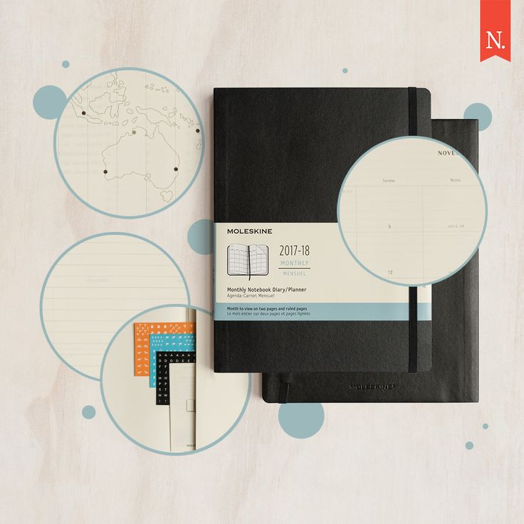Need to plan ahead? Getting organised has never been easier with a new 18-month Moleskine diary in a monthly format that commences from July '17 - December '18!