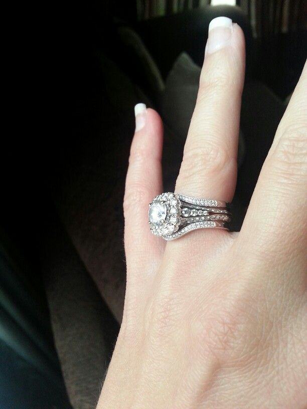 Christopher Designs Engagement Ring And Double Wedding Bands