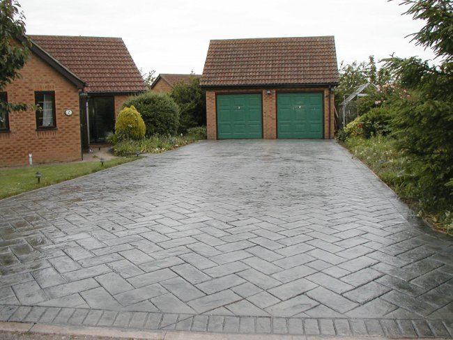 driveway patio ideas 25 great stone patio ideas for your home gray rectangle patio stone herring - Driveway Patio Ideas