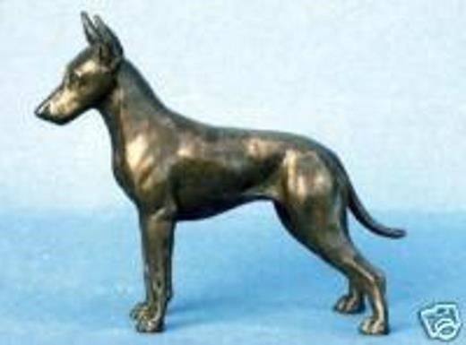 MANCHESTER TERRIER - TOY: COLD-CAST BRONZE FIGURINE
