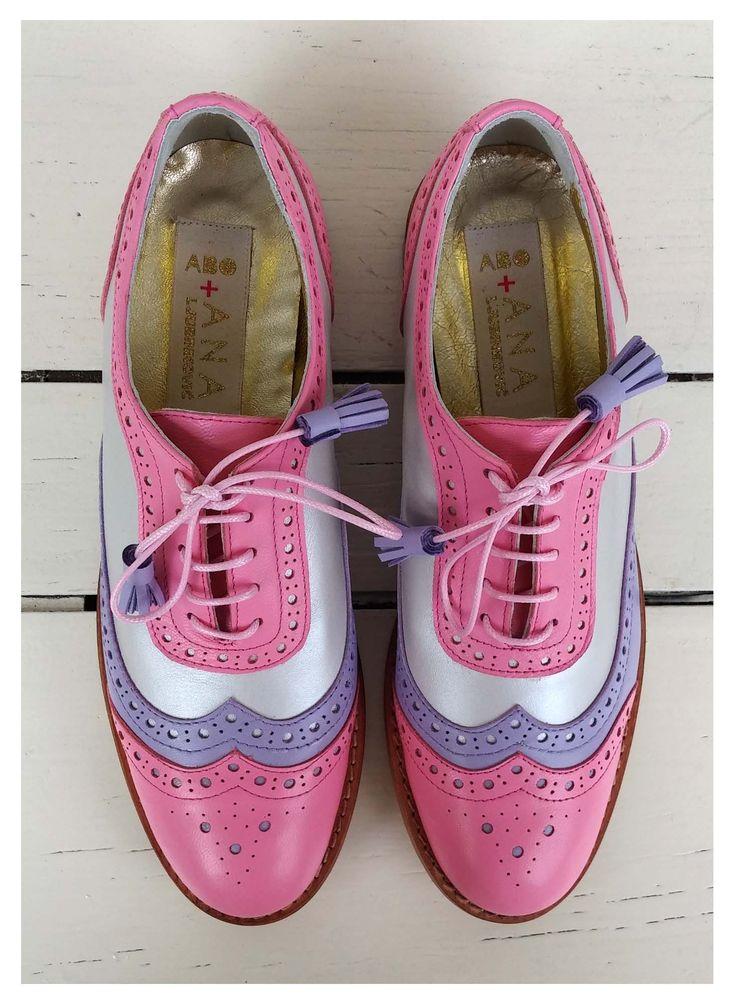 ABO + Ana Ljubinkovic brogues #abo#aboshoes#aboplusanaljubinkovic#brogues#oxfords#pastels#pink