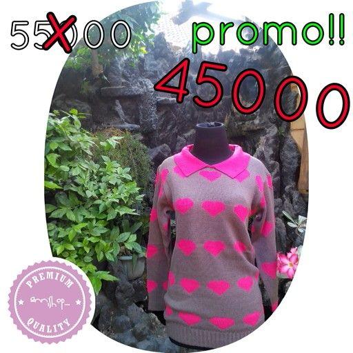 doty love collar coklat. Harga promo! Size freesize fit to L (rajut tebal) LD fit to 110cm Price 45000 For more info & order, please contact us Line : annisanurulg WA : 088806906942 (only WA) Bbm : 7FA6609B  Reseller and dropshiping are very welcome  Buy 3pcs, get disc 5000/pcs Thankyou  Shipping in the world .   #rajut #baju #atasan #pakaian #bajuwanita #sweater #dropship #reseller #bajumurah #onlineshopjogja #rajutan #knit #knitwear #jualan #jualanku #local #localbrand #bajulokal…