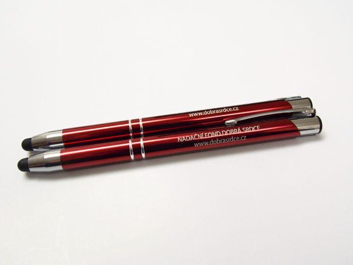 Stylusové pero - vínově červené