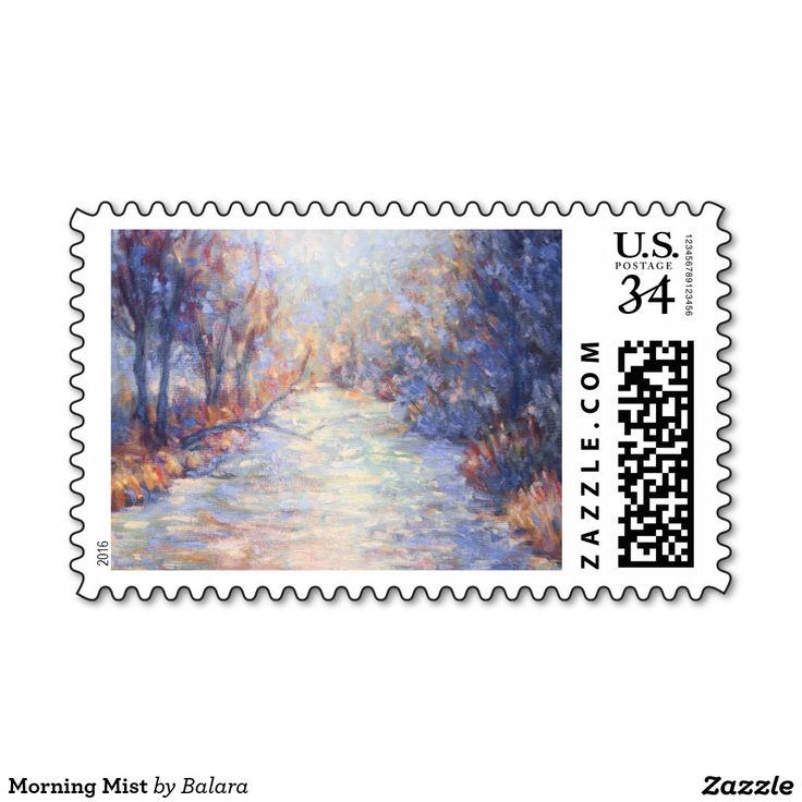 Morning Mist Postage Stamp