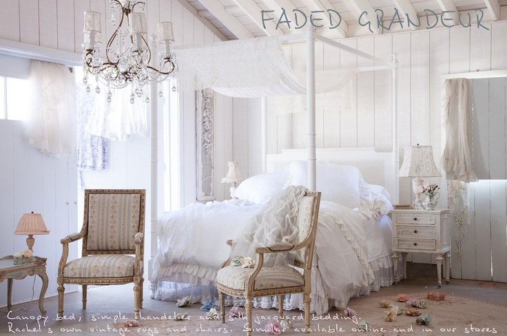 The Official Rachel Ashwell Shabby Chic Couture Site: Romantic Bedrooms, White Bedrooms, Shabby Bedrooms, Chic Couture, Bedrooms Dreams, Princesses Bedrooms, Bedrooms Ideas, Shabby Chic Bedrooms, Beautiful Bedrooms
