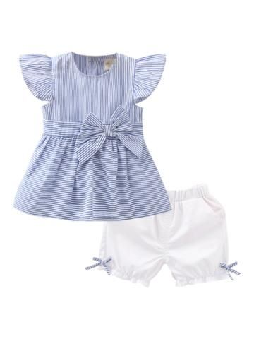 Buy Baby Girl's Set 2 Pcs Stripe Bow Soft Baby's Set & Baby Wear - at Jollychic