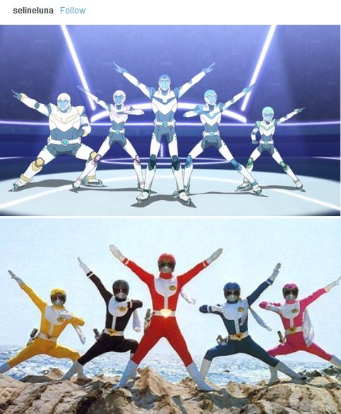 I do love all the references the creators make - Team Voltron & the Power Rangers