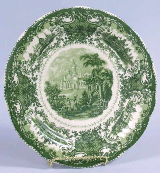 Green Castle Toile Porcelain Plate 10 inches & 838 best 1 Transferware images on Pinterest | Dishes Dish sets and ...