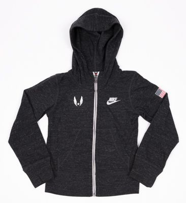 Nike USATF Girls' Gym Vintage Full-Zip Hoodie