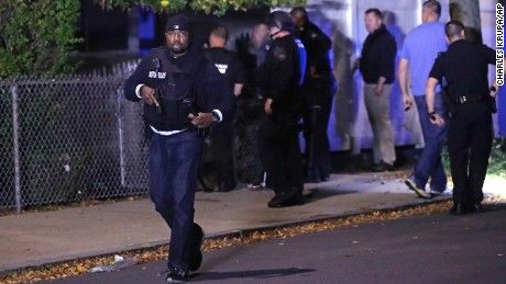 A gunfight at a Boston home left one suspect dead and two police officers critically injured late Wednesday, police said.
