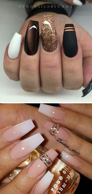 The dark Nails designs are so perfect for the cold winter! Hope they can inspire…