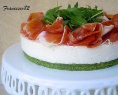 La cucina degli Angeli: Cheesecake allo stracchino con rucola e crudo sauris