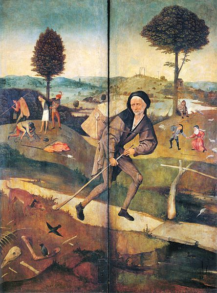 The symbol of the pilgrim on the precarious and threatening road of life was common in medieval painting and literature. Before we begin the journey of Bosch's Wayfarers or Pilgrims we can begin wi...