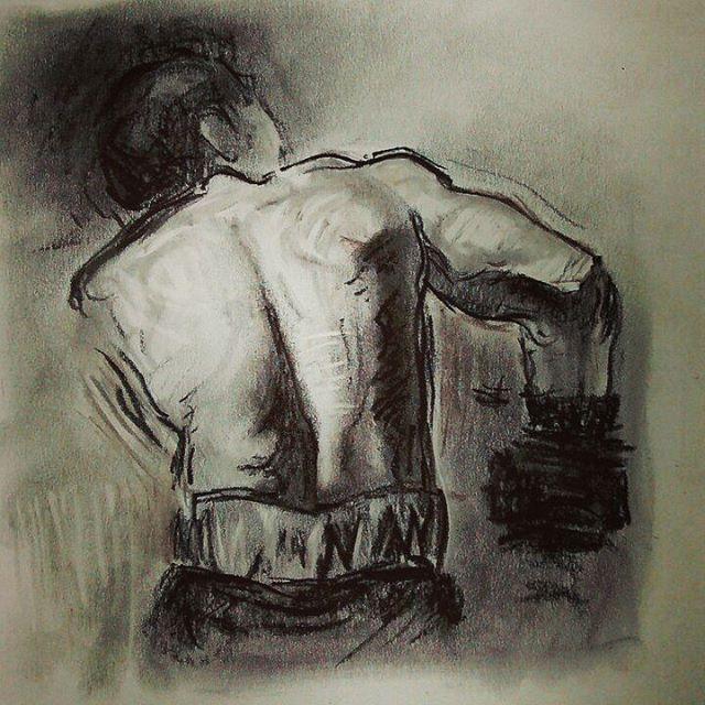 Boxing match drawing