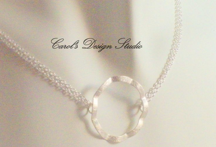 Beautifully Simple Circle with Double Sterling Silver Chain Necklace #etsy #handmade #design #gifts
