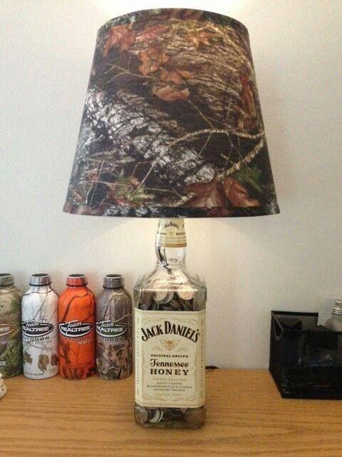 Camo & Jack Daniels lamp