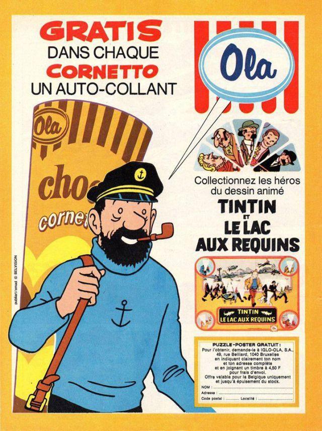 Captain Haddock and Tintin Ice creams.