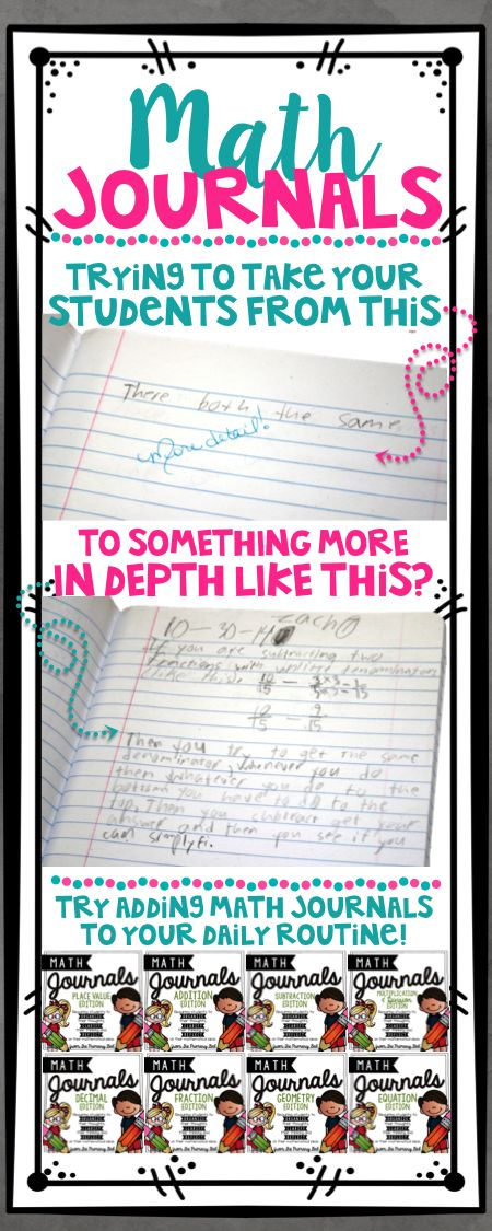 Math Journals from The Primary Gal are an excellent way to get students organize their thoughts, clarify their thinking, and reflect on their mathematical ideas!