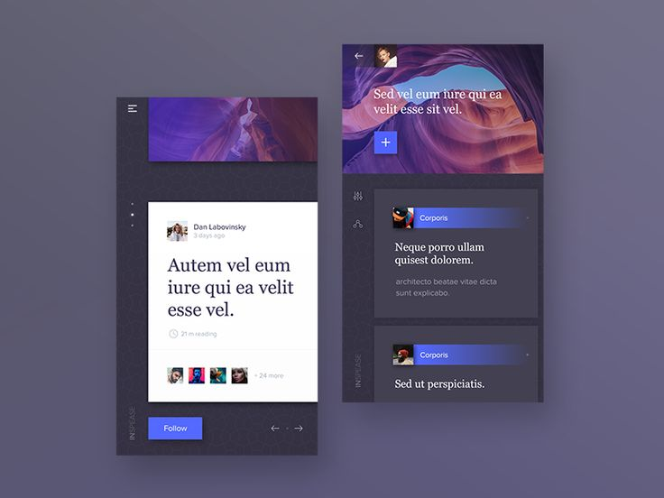 Inspease - social blog app. by Messaki