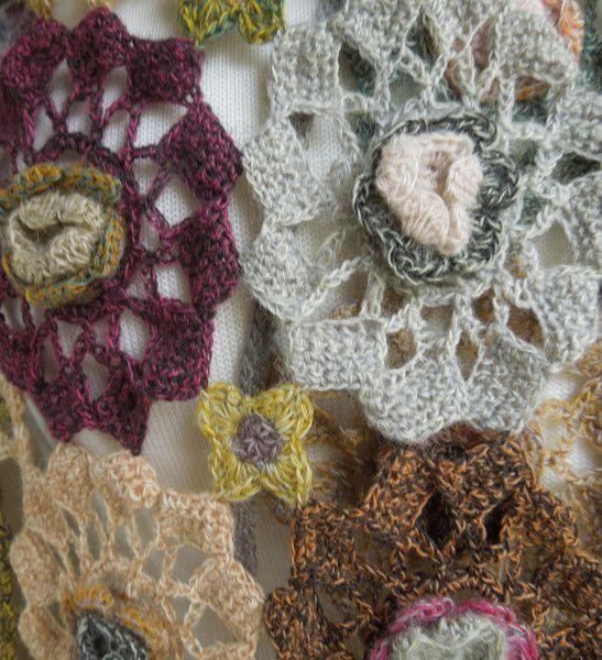 Soleil rose wool scarf