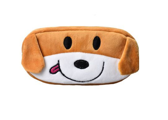 Lovely Dog Printed Plush Pencil Case
