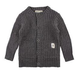 Small Rags Dolly Knitted Cardigan Dark Grey Melange