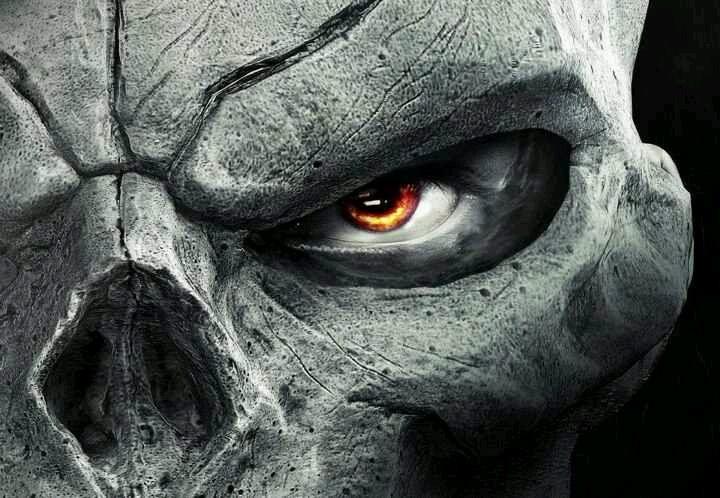 Dark Evil Skulls