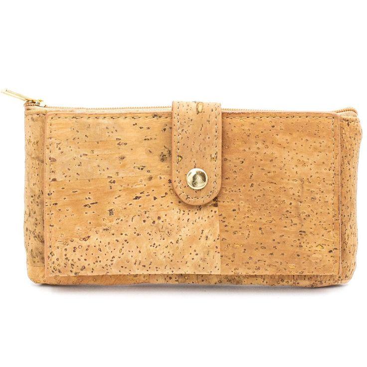 Cork Wallet Coin Pouch Purse Vegan Leather Cork Fabric Minimalist Slim Wallet Cork Bag Vegan Wallet