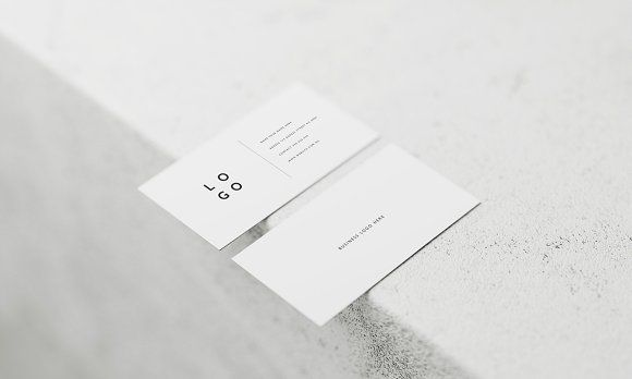 5 White Business Card Mockups Business Card Mock Up White Business Card Business Card Photoshop