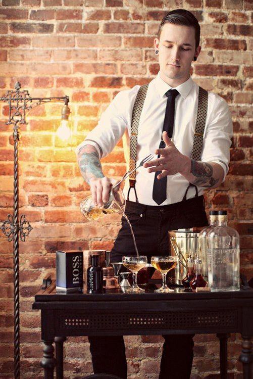 Braces & Bourbon I like the suspenders showing