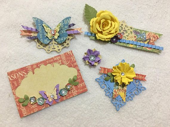 Scrapbook Embellishments...5 Piece Set of Very Elegant and