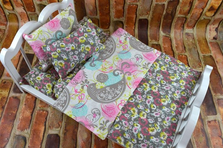 18 inch Doll Bedding Set fits American Girl Accessories Blanket Pillows Mattress #Accessories