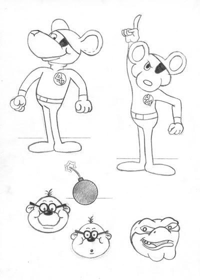 danger mouse coloring pages - photo#5
