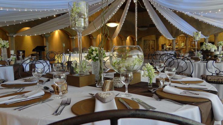 Brown & white wedding beauty
