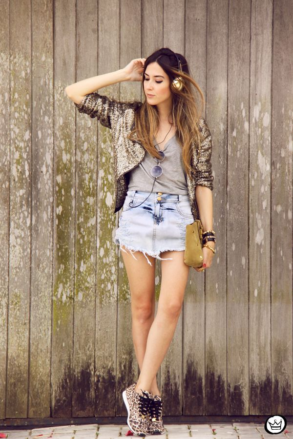 denim + sequins!