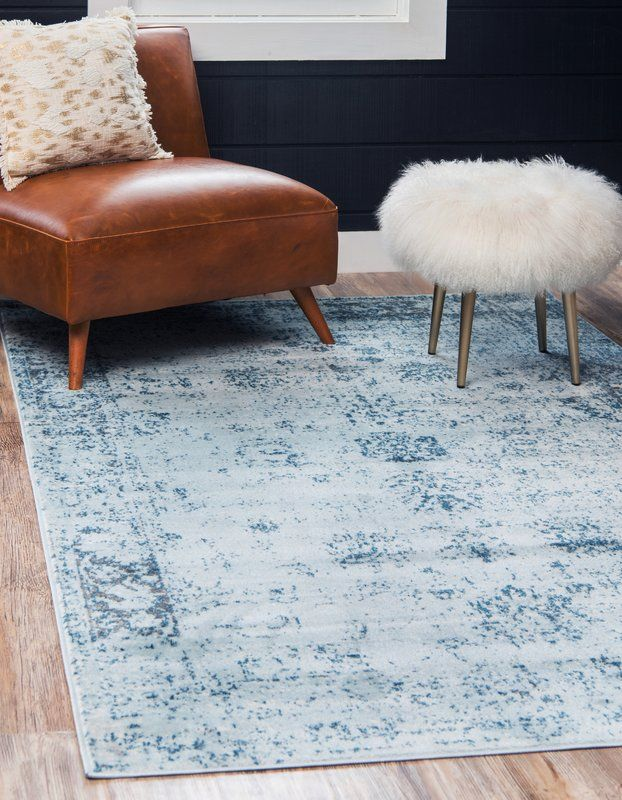 Brandt Light Blue Ivory Area Rug