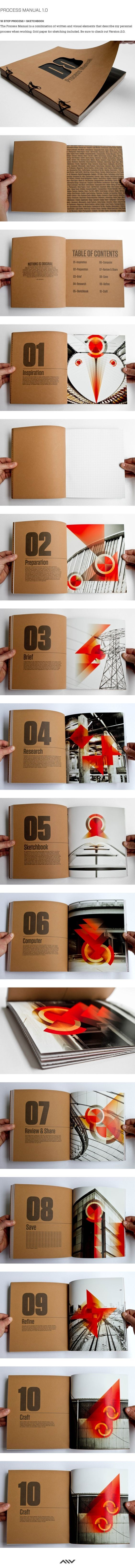 Great idea for printed graphic design portfolio. The color pops on the recycled cardstock. The table of contents is genius because it guides the reader through your work.:
