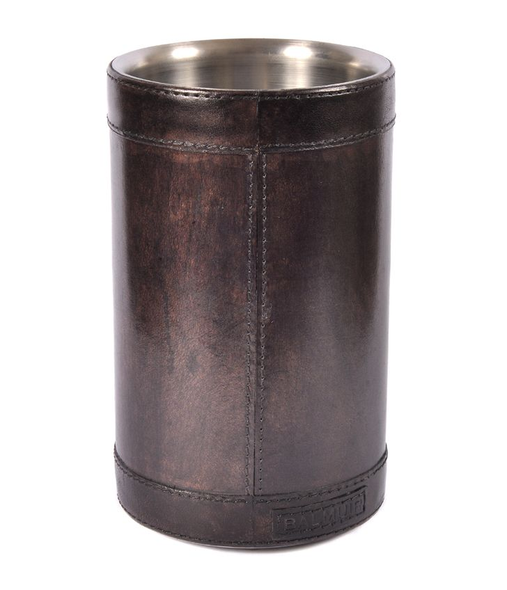 Decorative Brown Leather Wine Chiller| www.joannawood.co.uk #dinnerparty #countryside