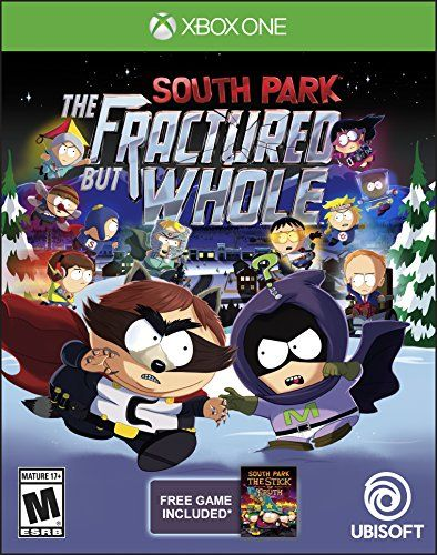 South Park: The Fractured but Whole - Xbox One:   From the creators of South Park, Trey Parker and Matt Stone, comes an outrageous sequel to 2014's South Park: The Stick of Truth. br/ In the quiet mountain town of South Park, darkness has spread across the land.  An entire squad of superheroes will rise to combat this evil, led by a nocturnal scavenger sworn to clean the trash can of South Park society. br/ Create your superhero and use your superpowers to save South Park so Coon and F...