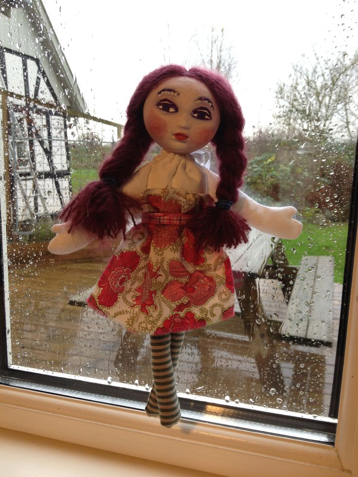 handmade doll with liberty print
