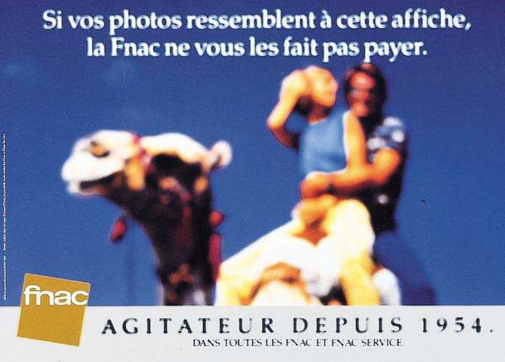 Read more: https://www.luerzersarchive.com/en/magazine/print-detail/fnac-9127.html Fnac If your photos turn out looking like this poster, Fnac won´t make you pay for them. (Fnac is a French chain of shops selling records, books, videos, computers as well as audio equipment. They also have a photo developing service, which is advertised in these posters.) Tags: Eric Holden,Fnac,Rémi Noel,DDB, Paris
